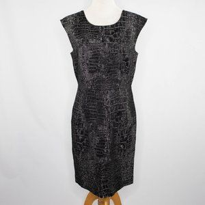 Kenneth Cole black and silver shift dress NEW (8)